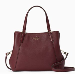 Kate Spade Jackson 3 compartment satchel Red Brown